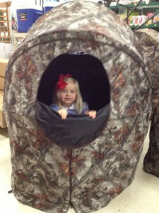hunting blind granddaughter