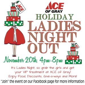 christmas sale event at ace of gray