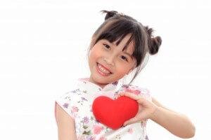 valentine's heart - little girl