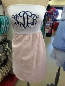 monogram dress - gift shop
