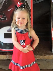 uga girls' dress