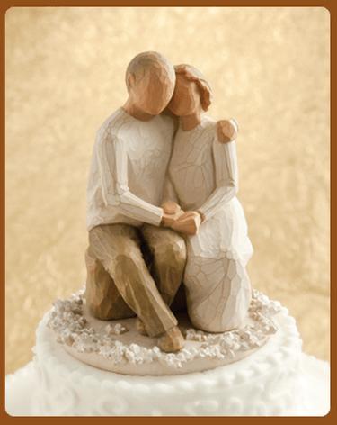 anniversary cake topper