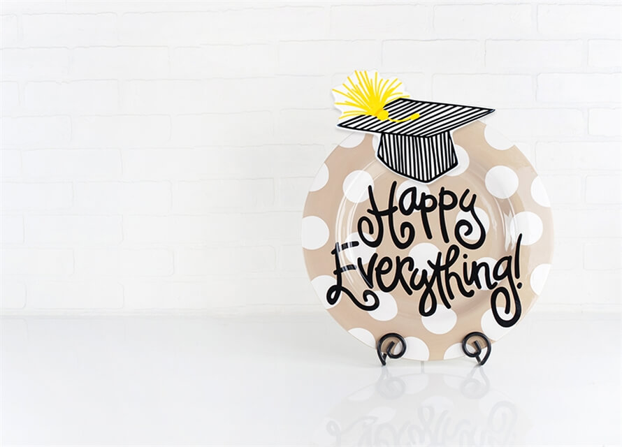 striped graduation cap