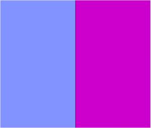 Light blue and purple